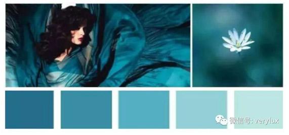 艺术壁材中的孔雀蓝